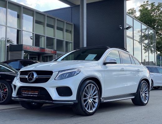 Mercedes-Benz GLE 350 d Coupé 4MATIC AMG-PAket Aut., Harman Kardon, Pano-Schiebedach, Head-Up, Kamera, LED, 22″ NL-48% bei CarPort || Meyer-Hafner in