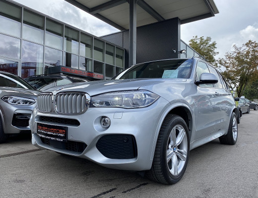BMW X5 xDrive40d M-Paket Aut., 7-Sitzer, Night-Vision, AHK, Kamera, Harman Kardon, Navi-Pro, Head-Up, LED, SHZ, Pano-Glasdach, 19″ bei CarPort || Meyer-Hafner in