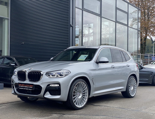 BMW X3 xDrive30d M-Paket Aut., AHK, Pano, LKHZ, Navi-Pro, Head Up, Harman Kardon, STHZ ,LED, 22 Zoll Alpina Rad bei CarPort || Meyer-Hafner in