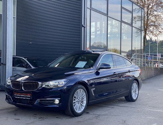 BMW 320d Gran Turismo Luxury Line Aut., Head-Up, Navi-Pro, LED, Kamera, Pano-Glasdach, 18″ bei CarPort || Meyer-Hafner in
