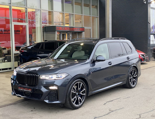 BMW X7 xDrive30d M-Paket, FIRSTCLASS, AHK, Laserlicht, STHZ, LKHZ, Harman Kardon, Massage bei CarPort || Meyer-Hafner in