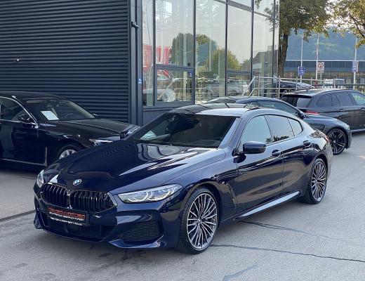 BMW 840d xDrive Gran Coupe M-Paket Aut., Pano, Kamera, Harman Kardon, Laserlicht, LKHZ, TV, 20″ bei CarPort || Meyer-Hafner in