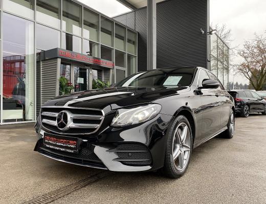 Mercedes-Benz E 300 de Limousine AMG-Line Aut., LED, Kamera, Navi, 18″ bei CarPort || Meyer-Hafner in