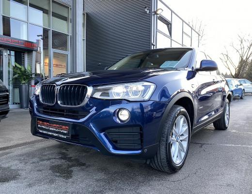 BMW X4 xDrive 20d Aut., Harman Kardon, Navi-Pro, LED, Kamera, Glasdach, LKHZ, 18″ bei CarPort || Meyer-Hafner in