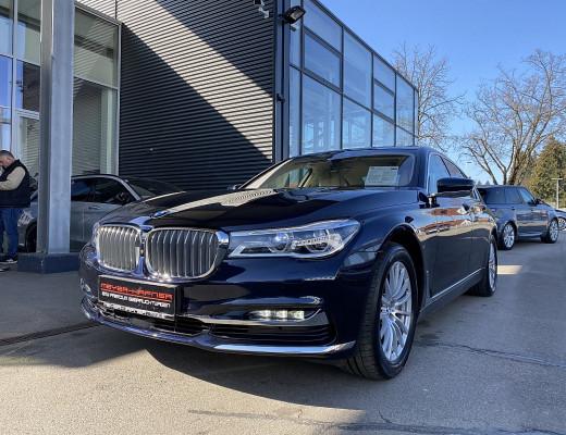 BMW 740d xDrive Limousine Pure Excellence Aut., Laserlicht, Harman Kardon, Navi-Pro, STHZ, Massage, Glasdach, Kamera, LKHZ, 20″ bei CarPort || Meyer-Hafner in