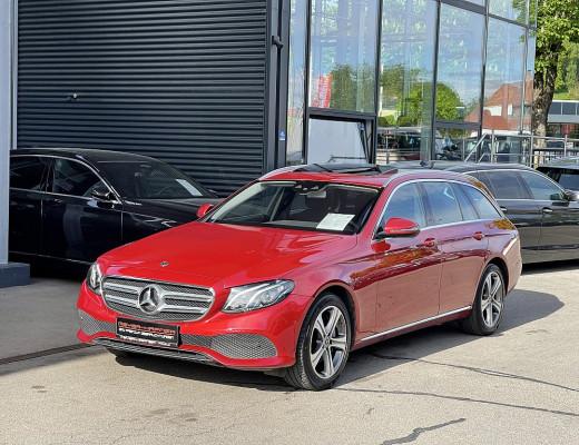 Mercedes-Benz E 350 d T-Modell Aut., Kamera, Navi, Schiebedach, AHK, LED, 18″ bei CarPort || Meyer-Hafner in