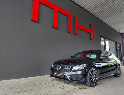 Mercedes-Benz C 450 AMG T 4MATIC AMG Line Aut., LED, Pano, AHK, Kamera, Burmester, STHZ, 19″ bei CarPort || Meyer-Hafner in