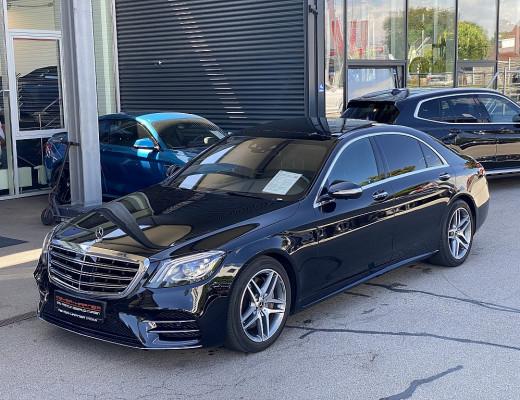 Mercedes-Benz S 350 d lang 4MATIC AMG-line Aut., Pano, Memory, Burmester, Head-Up, LED, Kamera, SZBL, 18″ bei CarPort || Meyer-Hafner in