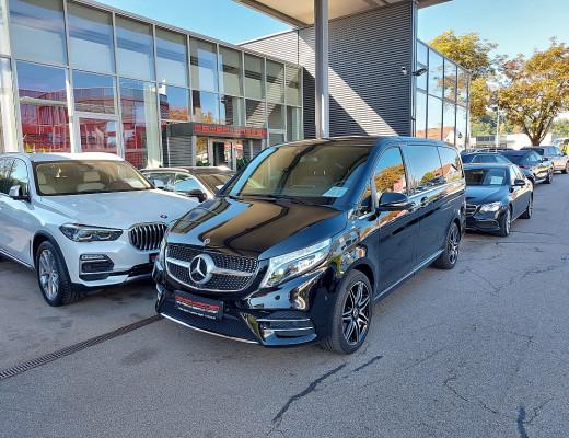 Mercedes-Benz V 300 d 4MATIC lang AMG-Line Aut., Navi, Burmester, Pano, Kamera, LED bei CarPort || Meyer-Hafner in