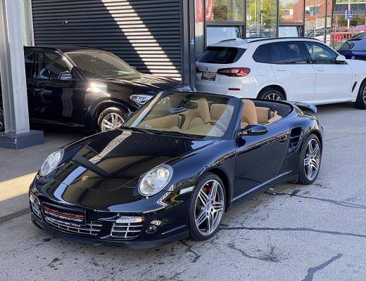 Porsche 911 Turbo Cabrio Allrad Tiptronic, BOSE, SHZ, Sport Chrono Paket Plus, Bi-Xenon, 19″ bei CarPort || Meyer-Hafner in